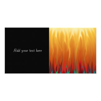 Abstract Art - Fire - Background Flames Photo Card Template