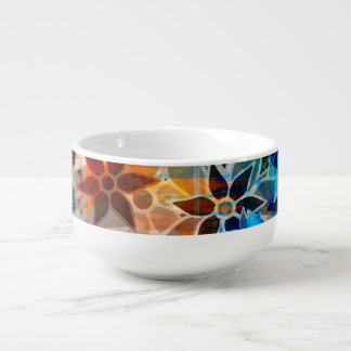 Abstract Art Flower Pattern #5 Soup Mug