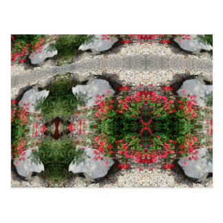 ABSTRACT ART FLOWERS POSTCARD