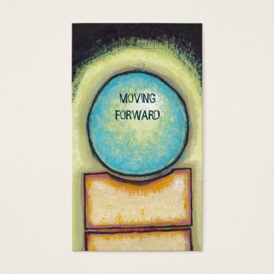 Abstract art fun blue circle painting your words