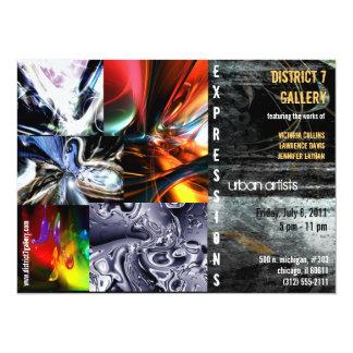 abstract art gallery invitation