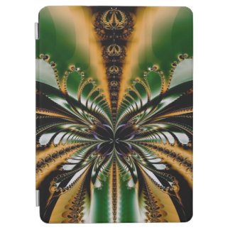 Abstract Art Green And Brown Pattern iPad Air Cover