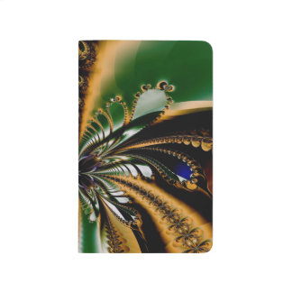 Abstract Art Green And Brown Pattern Journal