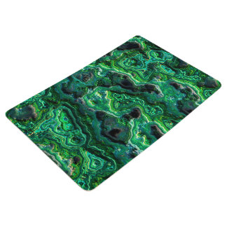 Abstract Art Green Pattern Floor Mat
