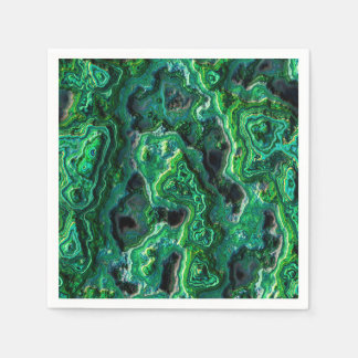Abstract Art Green Pattern Paper Napkins