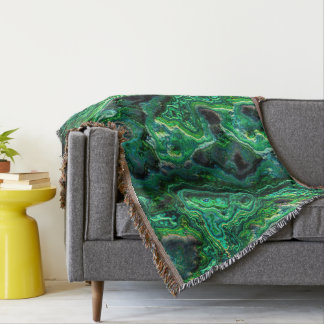 Abstract Art Green Pattern Throw Blanket