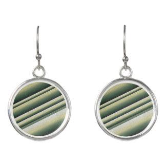 Abstract Art Green Shot Circle Drop Earrings