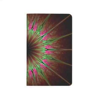 Abstract Art Green Star Journal