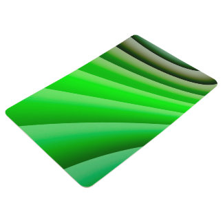 Abstract Art Green Wave Floor Mat