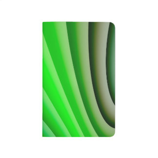 Abstract Art Green Wave Journal