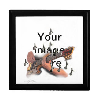 Abstract art, Guitar player, music and instrument Gift Box