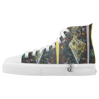 Abstract art high tops