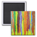 Abstract Art in Yellow Square Magnet