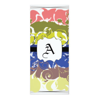 Abstract Art 4x9.25 Paper Invitation Card
