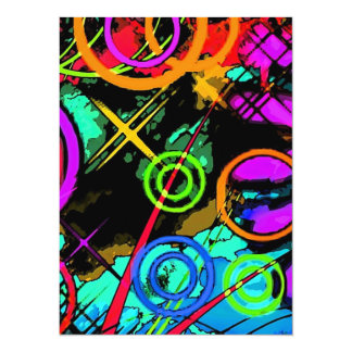 Abstract Art Personalized Invites