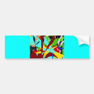 Abstract Art Jungle plants Bumper Sticker