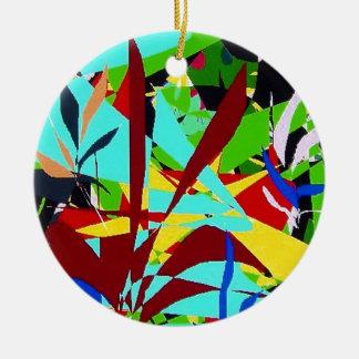 Abstract Art Jungle plants Christmas Ornament