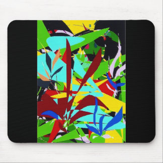 Abstract Art Jungle plants Mouse Pad