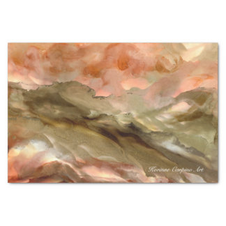 Abstract Art Landscape Tissue Paper