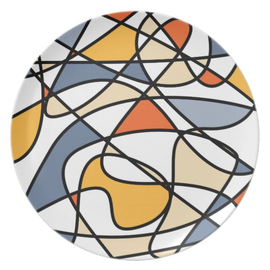 Abstract Art Melamine Plate
