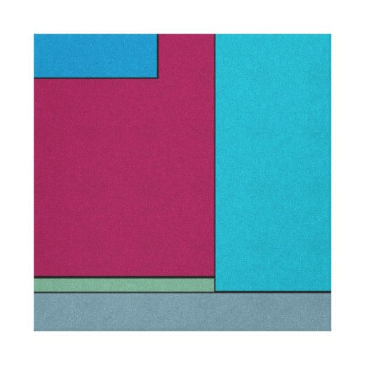 Abstract Art Modern Geometric Color Fields Retro Gallery Wrapped Canvas