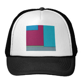 Abstract Art Modern Geometric Color Fields Retro Hats