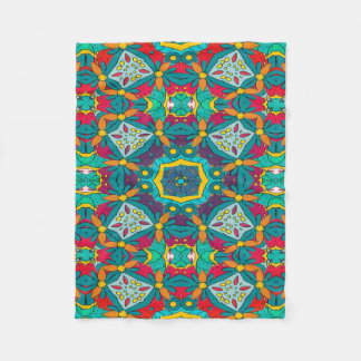 Abstract Art Mosaic Pattern Fleece Blanket