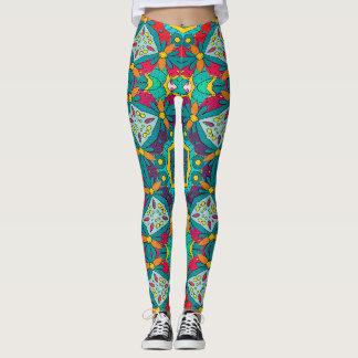 Abstract Art Mosaic Pattern Leggings