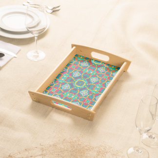 Abstract Art Mosaic Pattern Serving Tray