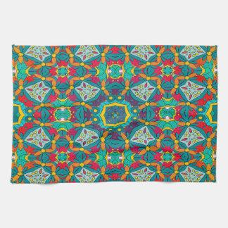 Abstract Art Mosaic Pattern Tea Towel
