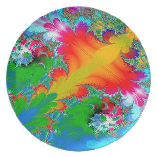 Abstract Art Multi Color Background Plates