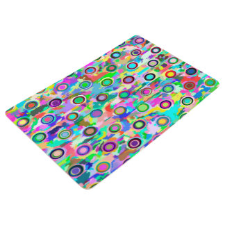 Abstract Art Multi Color Circles Floor Mat