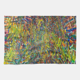 Abstract Art Multi Colorful Strokes Tea Towels