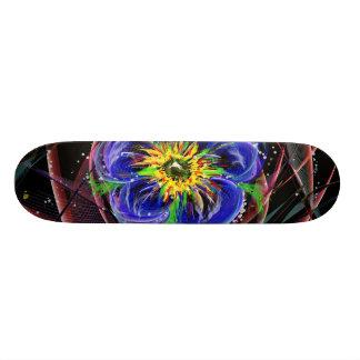 Abstract Art of Flower Skateboard Deck