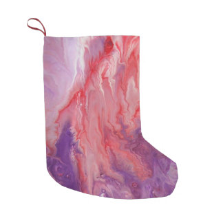 """Abstract Art on Christmas Stocking """"Electricity"""""""