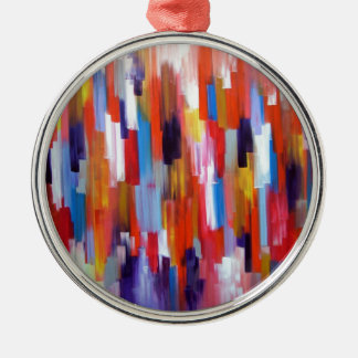 Abstract Art Paint Boxes Watercolor Christmas Ornaments