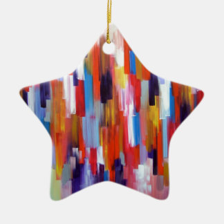 Abstract Art Paint Boxes Watercolor Christmas Tree Ornament