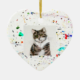 Abstract Art Paint Splashes and Spots Photo Christmas Ornament