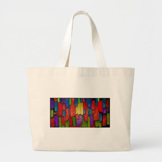 Abstract art painting cases iPhone t-shirts black Canvas Bag
