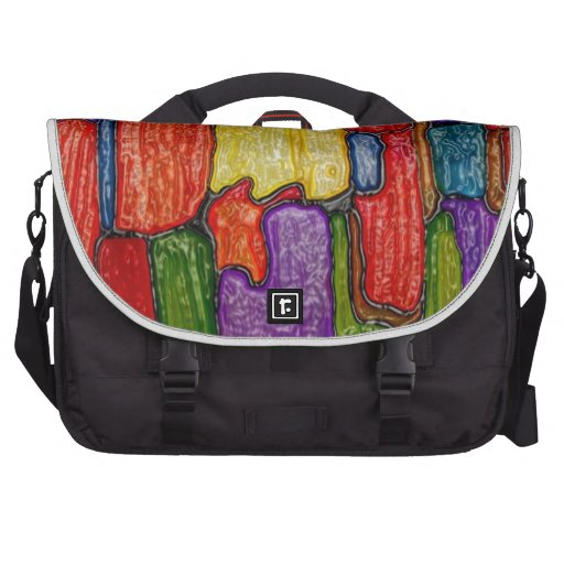 Abstract art painting cases iPhone t-shirts black Laptop Commuter Bag