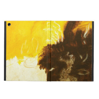 Abstract Art Painting Drips Splatters Yellow Brown Case For iPad Air