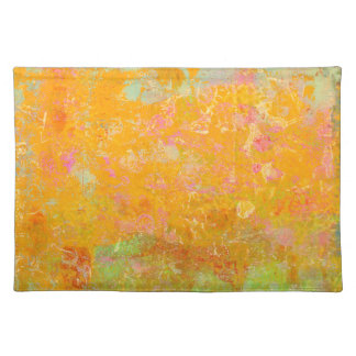 Abstract Art Painting Orange Yellow Pink Red Green Placemat