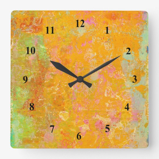 Abstract Art Painting Orange Yellow Pink Red Green