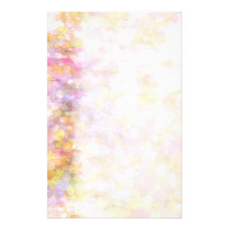 Abstract Art Pale Yellow Pastel Impressionism Personalized Stationery