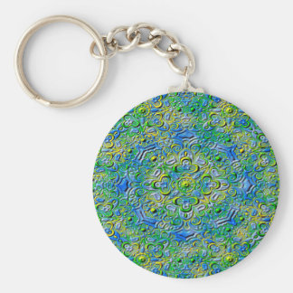 Abstract Art Patterns Basic Round Button Key Ring