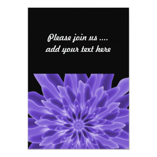 Abstract Art Periwinkle Flower 13 Cm X 18 Cm Invitation Card