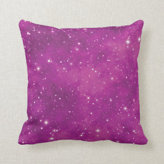 Abstract Art Pink and Purple Universe Cushion