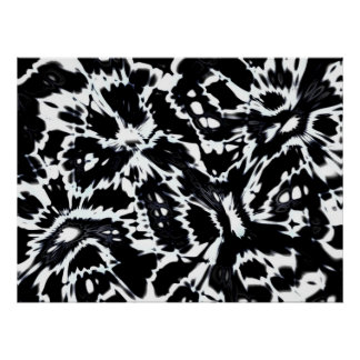 Abstract Art Poster Wild About Black White