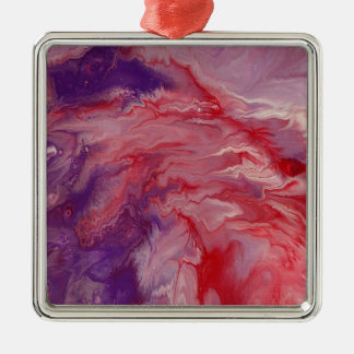 "Abstract Art Premium Square Ornament ""Frenzied"""