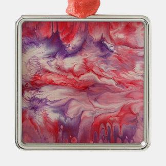 "Abstract Art Premium Square Ornament ""Splendid"""
